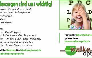 Bildauszug: Kinderaugen sind wichtig und wenn man das aufgezählte beobachtet dann sollten die Augen Kontrolliert werden.